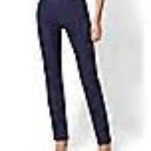 NY&Co Navy M Straight Leg Pull-On Pant